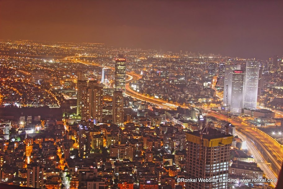 תל אביב מבט ממגדל משה אביב רמת גן